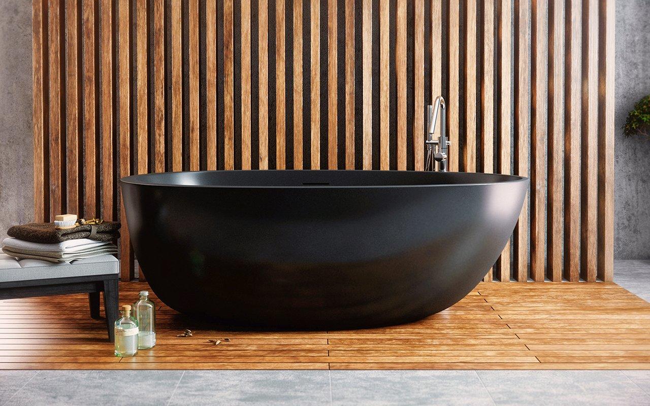 Vasca Da Bagno Di Grandi Dimensioni : Spoon la vasca da bagno freestanding di aquatica in pietra