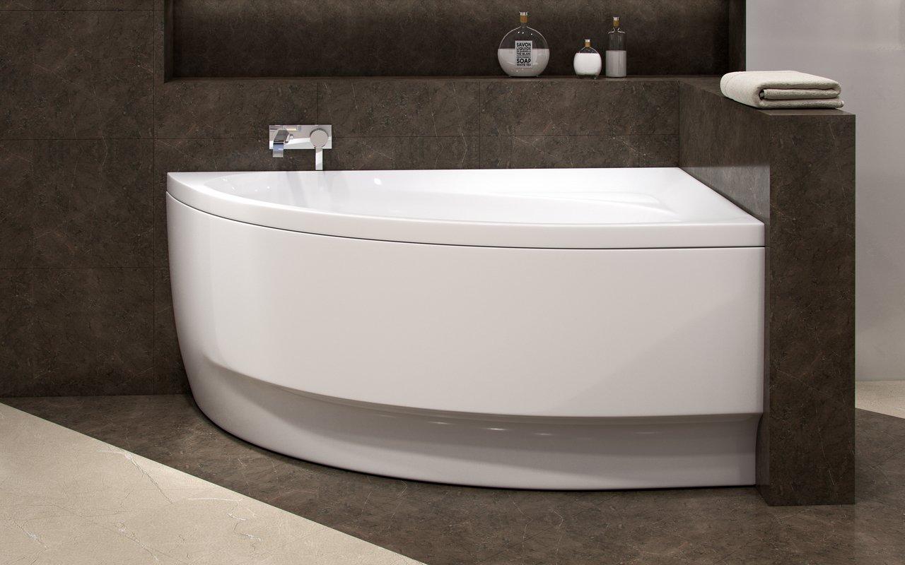 Vasca Da Bagno Ad Angolo : Idea l wht la vasca da bagno ad angolo di aquatica in materiale