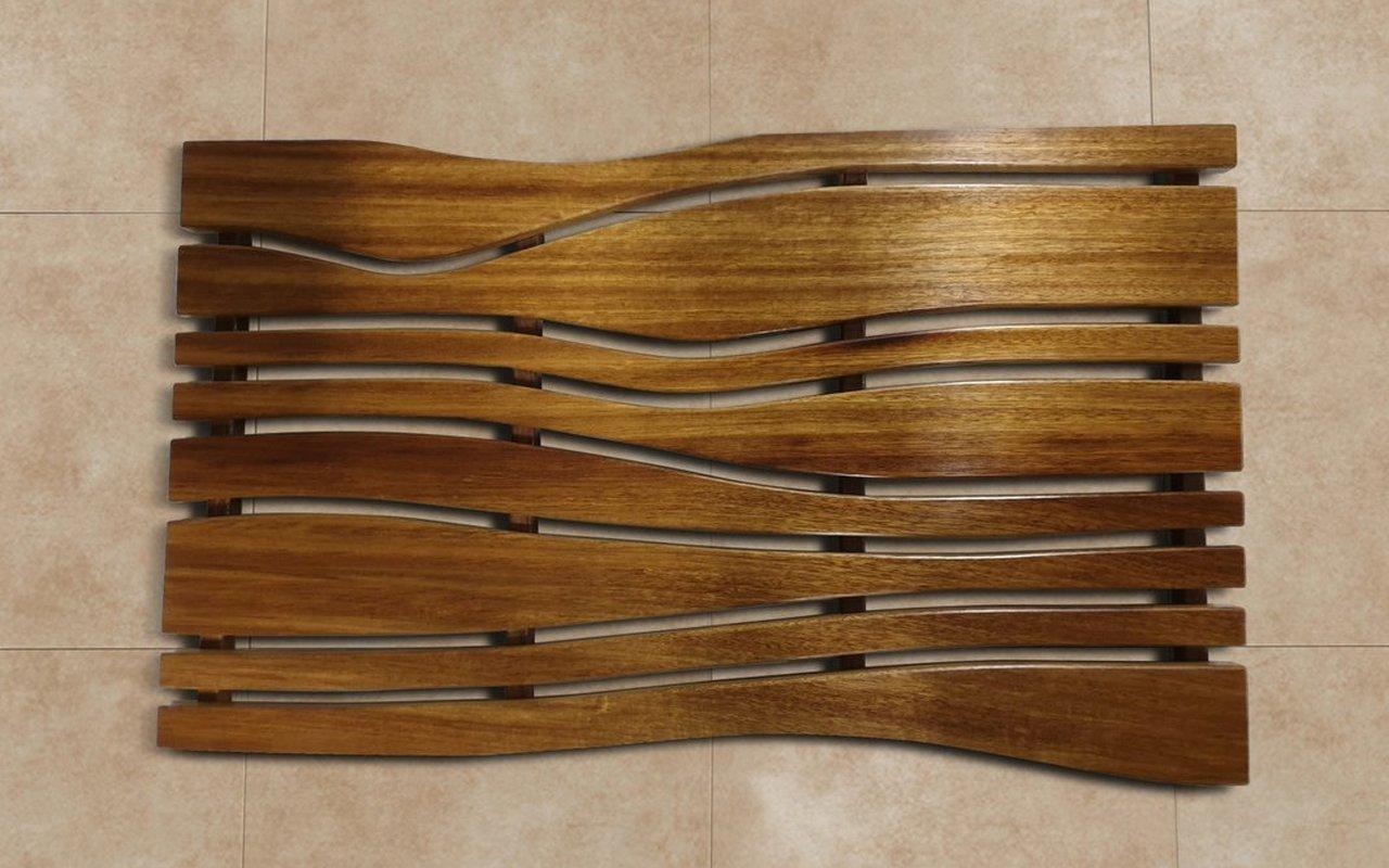 Aquatica Onde Waterproof Iroko Wood Floor Mat 01 2 (web)