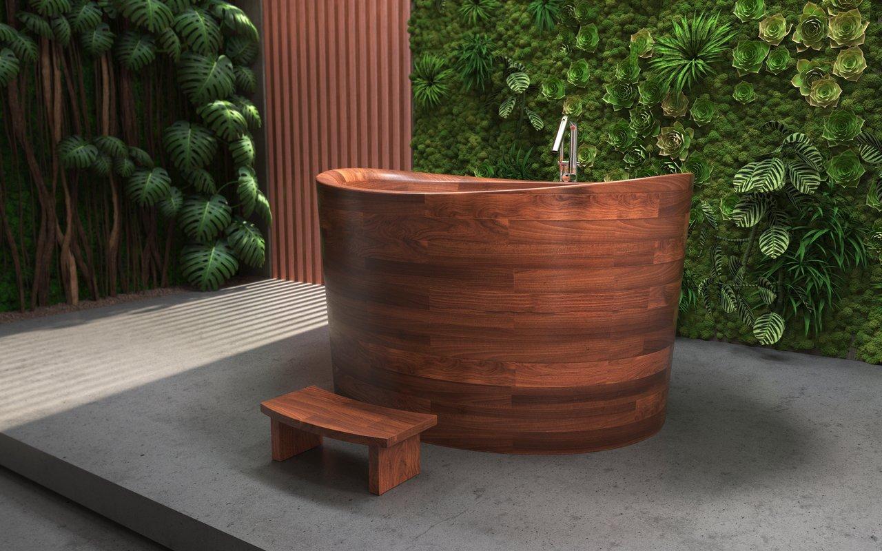 Aquatica True Ofuro Duo Wooden Freestanding Japanese Soaking Bathtub 05 (web)