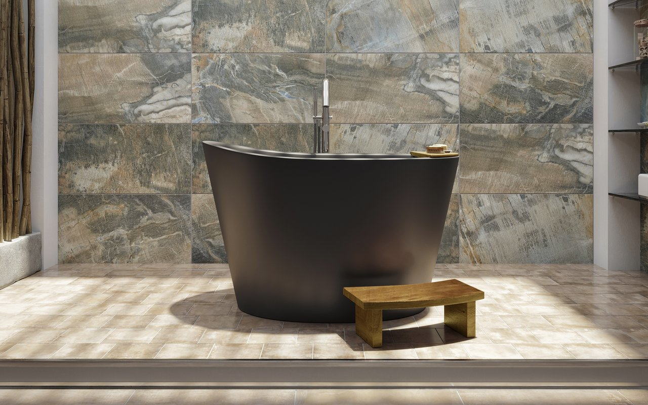 Vasca Da Bagno Ofuro : True ofuro la vasca da bagno freestanding di aquatica in pietra