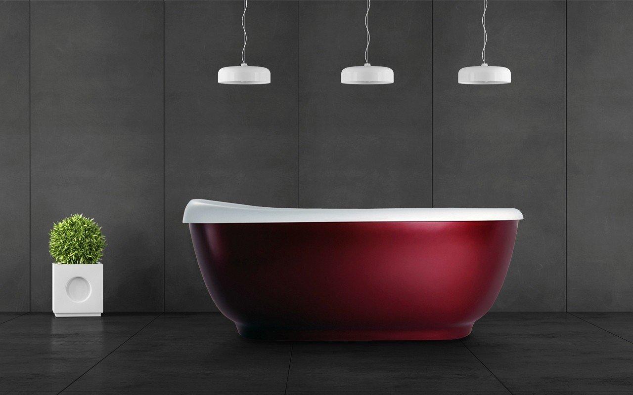 Fido red la vasca da bagno freestanding di aquatica in - Vasca da bagno in pietra ...