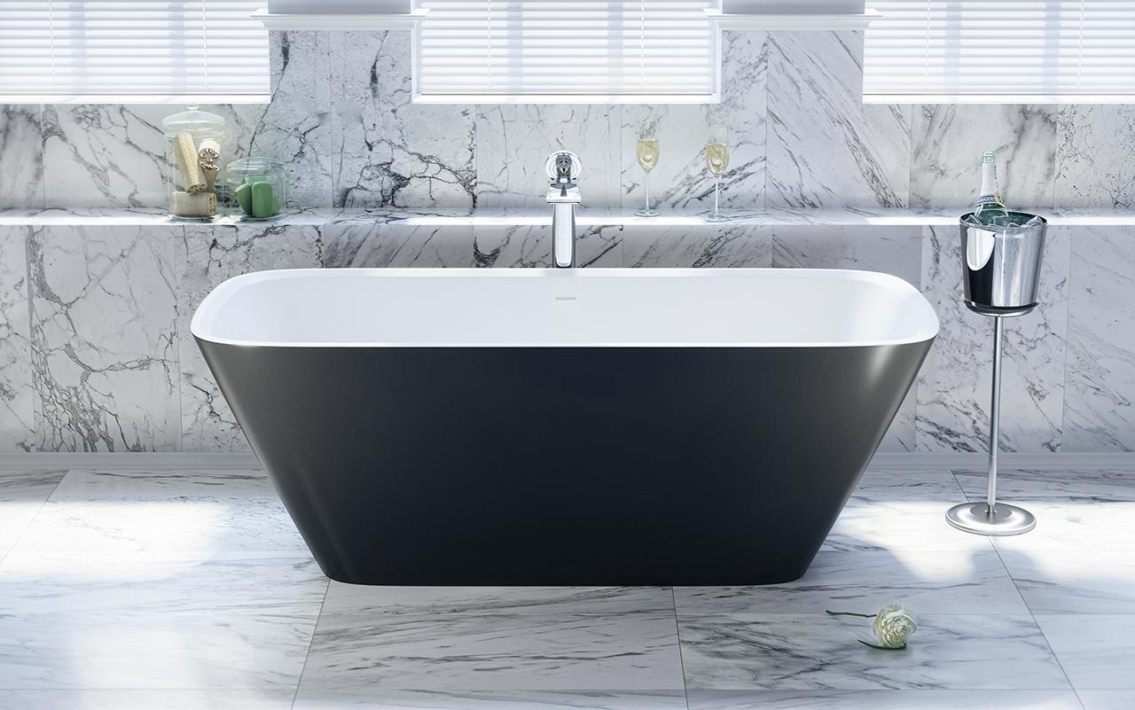 Arab blck wht la vasca da bagno freestanding di aquatica - Vasca da bagno in pietra ...