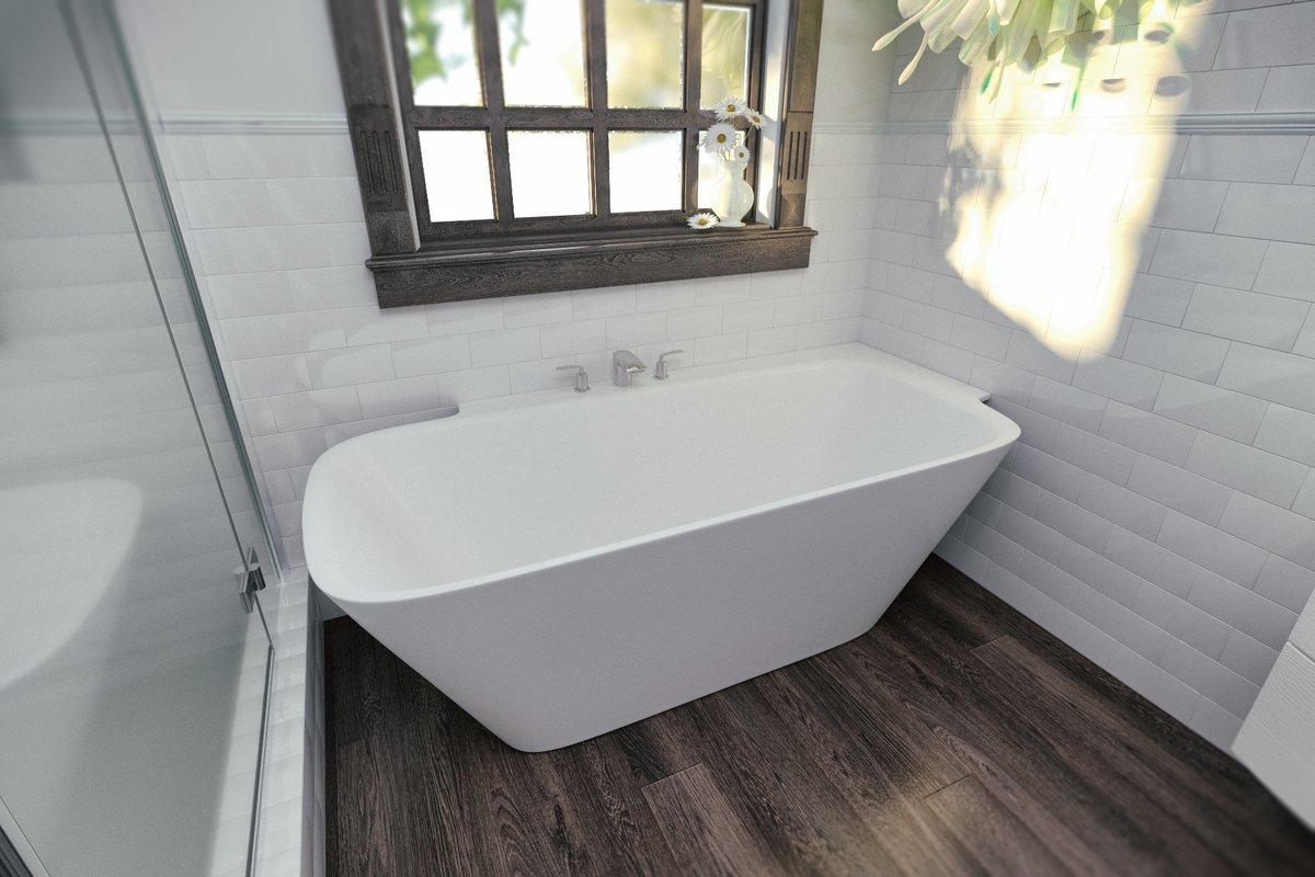 Arabella-L-Wht™, la vasca da bagno ad angolo di Aquatica in pietra ...
