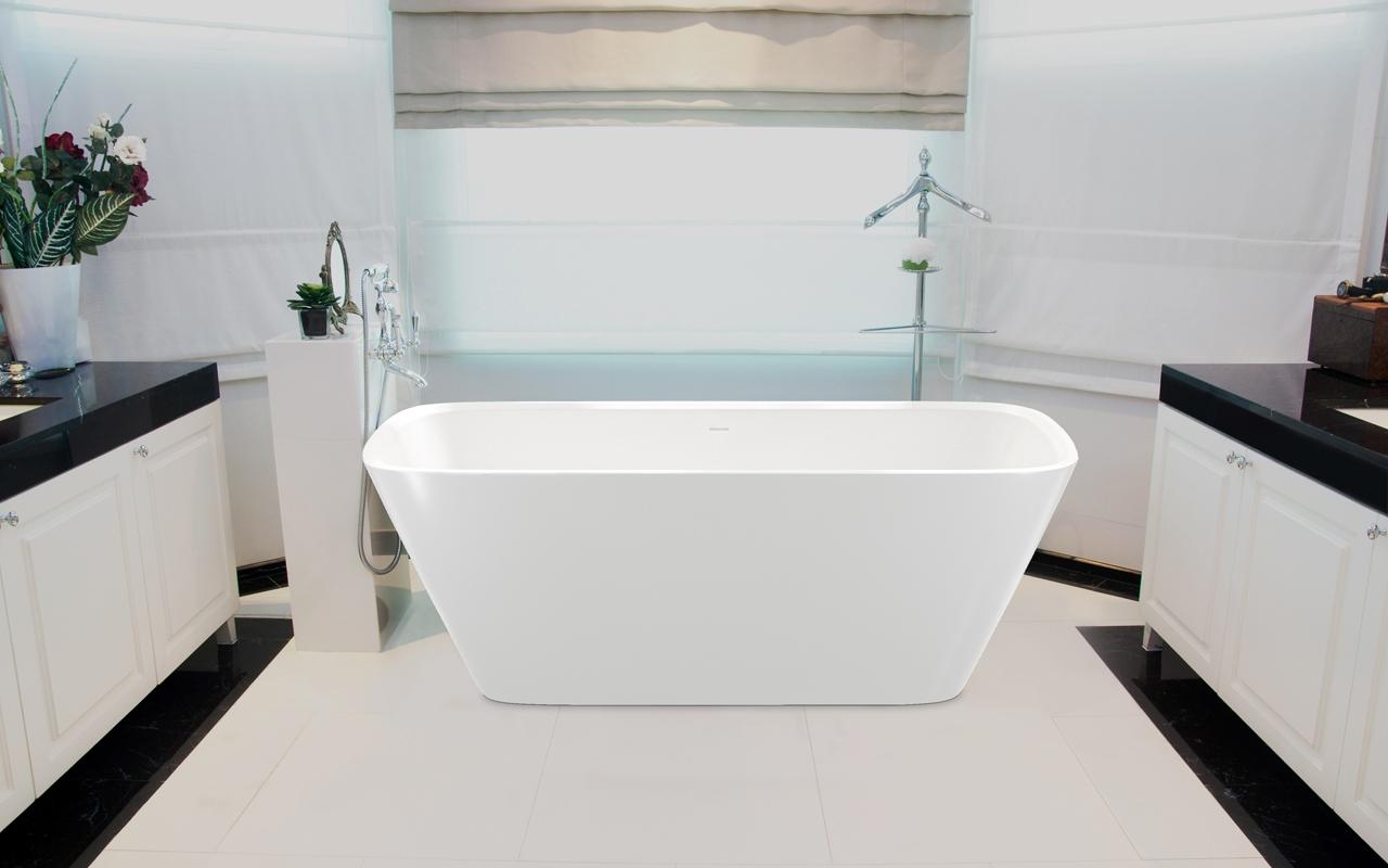 Arabella wht la vasca da bagno freestanding aquatica in - Vasca da bagno in pietra ...