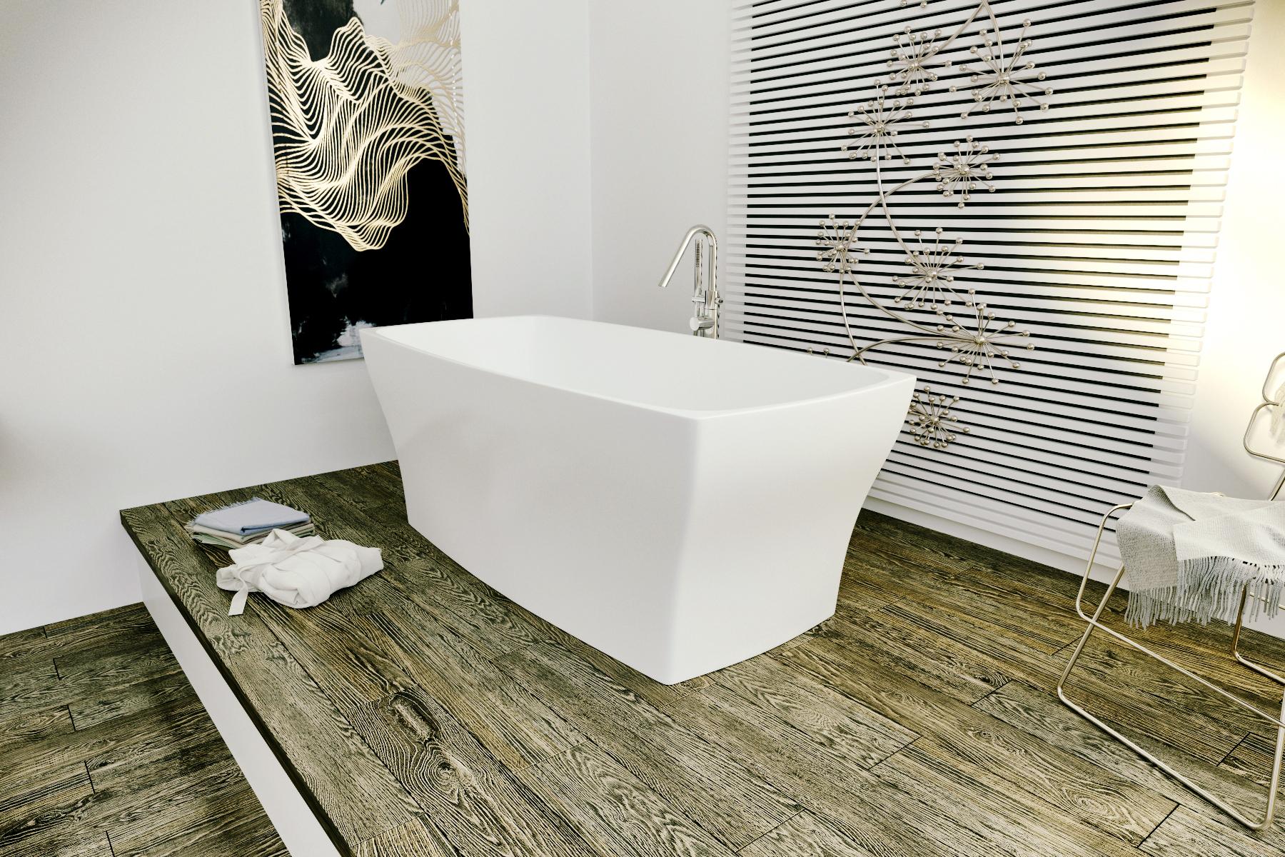 Elise wht la vasca da bagno freestanding aquatica in - Vasca da bagno in pietra ...