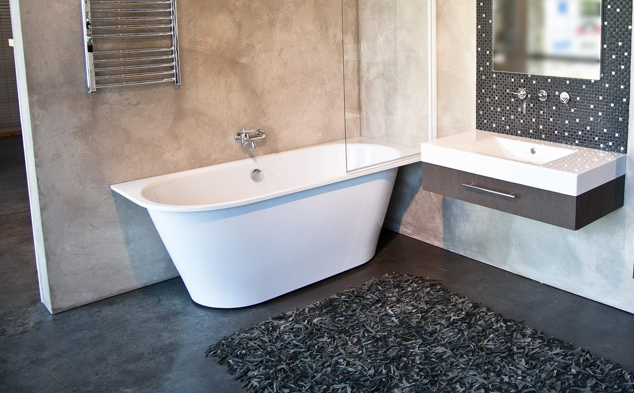 Inflection b l wht la vasca da bagno ad angolo aquatica - Vasca da bagno in pietra ...