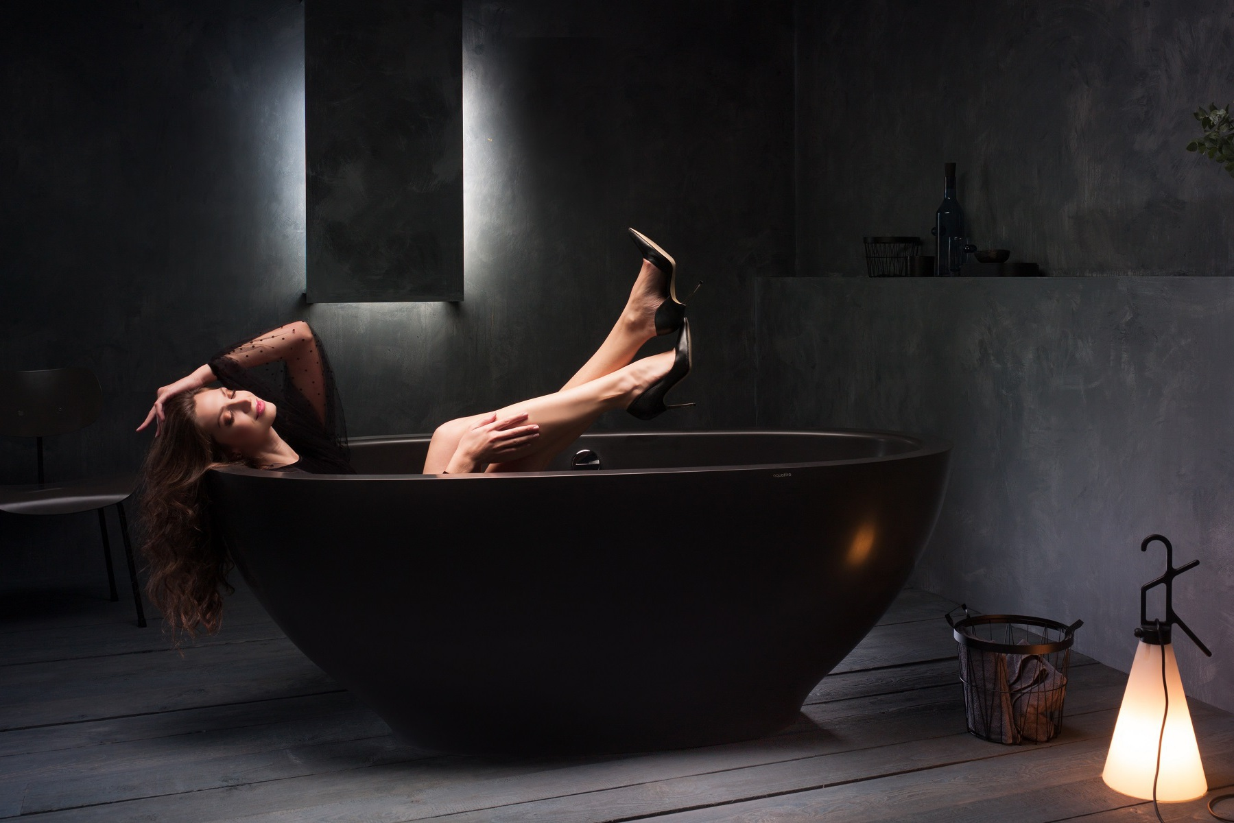 Karolina Black Stone Bathtub 1200 1800