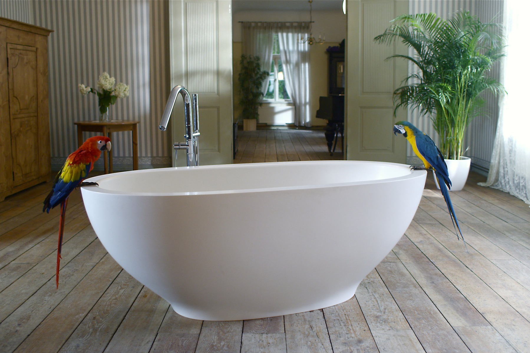 Vasca Da Bagno White : Karolina wht la vasca freestanding di aquatica in pietra