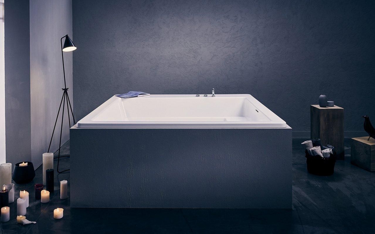 Vasca Da Bagno Da Incasso Quadrata : Aquatica lacus wht la vasca da bagno ad incasso in materiale acrilico