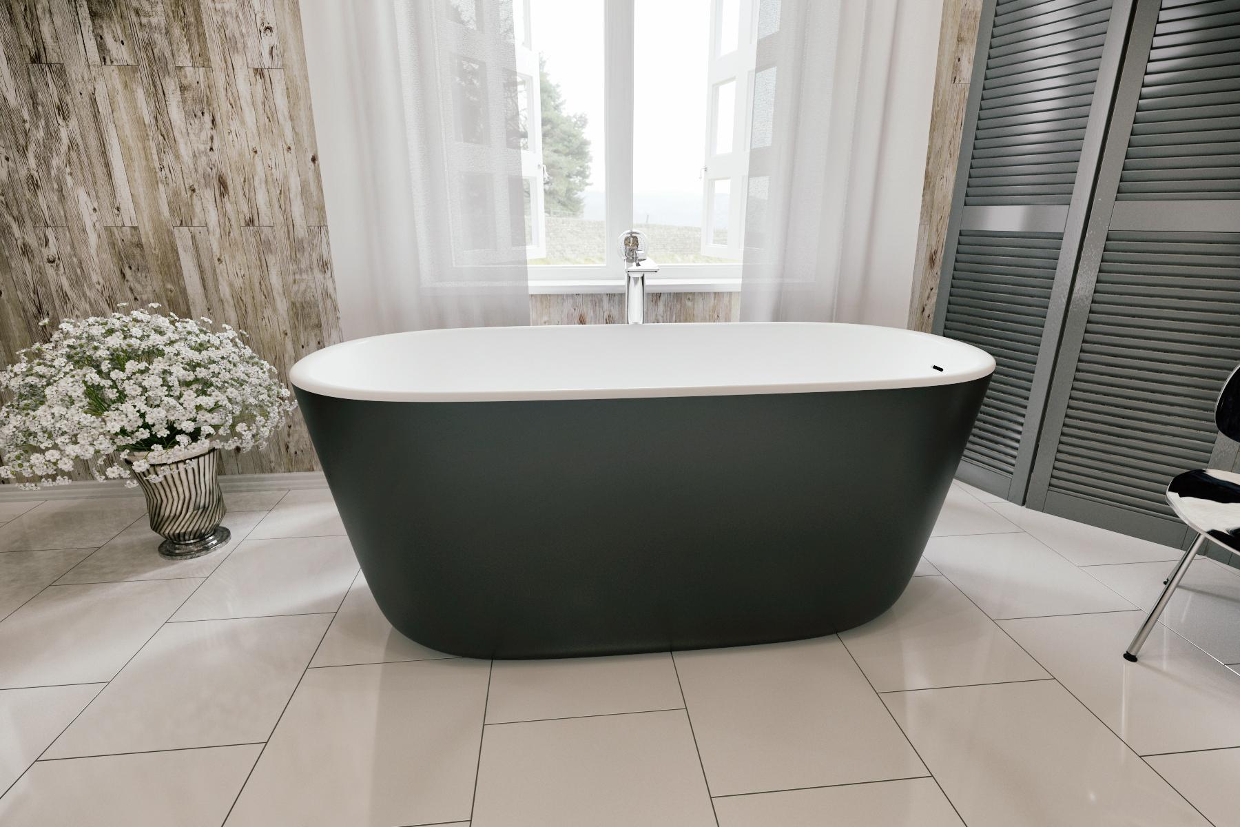 Vasche Da Bagno Dimensioni Ridotte : Lullaby mini black la vasca da bagno freestanding aquatica in