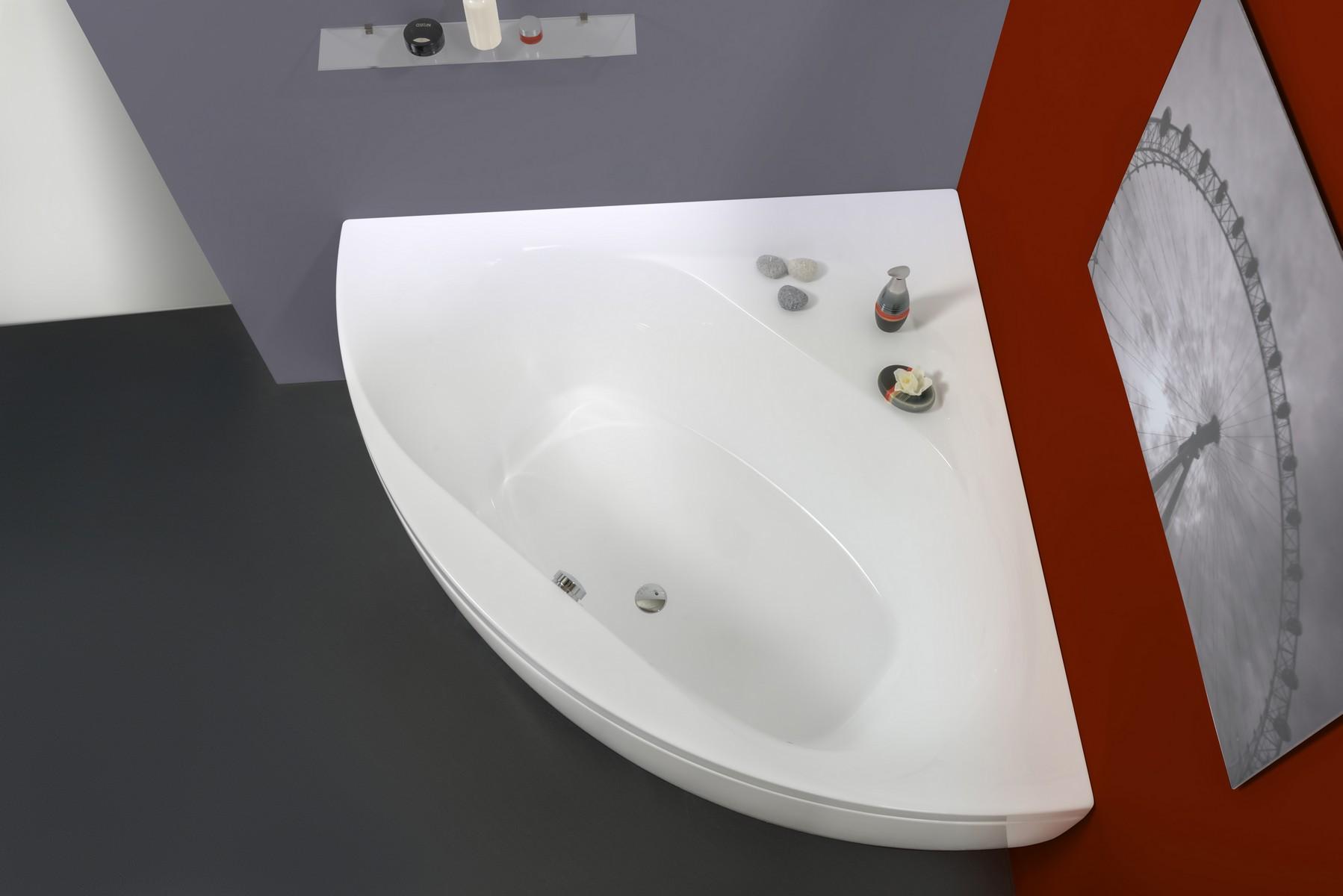 Olivia-Wht, la vasca da bagno ad angolo di Aquatica in materiale ...