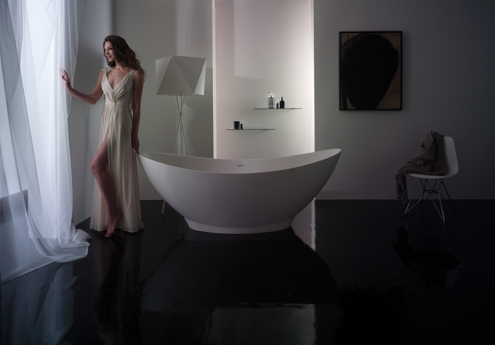 Purescape 621m vasca da bagno freestanding aquatica in - Vasca da bagno in pietra ...