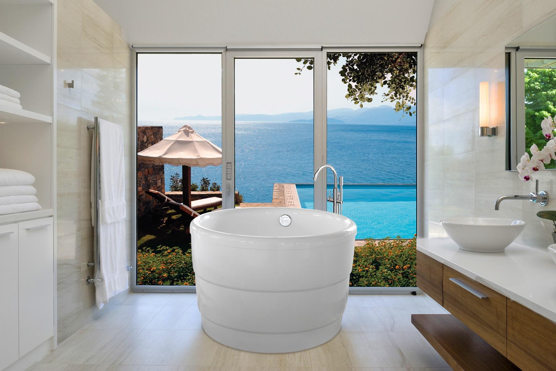 Purescape 034 la vasca da bagno freestanding aquatica in - Materiale vasca da bagno ...
