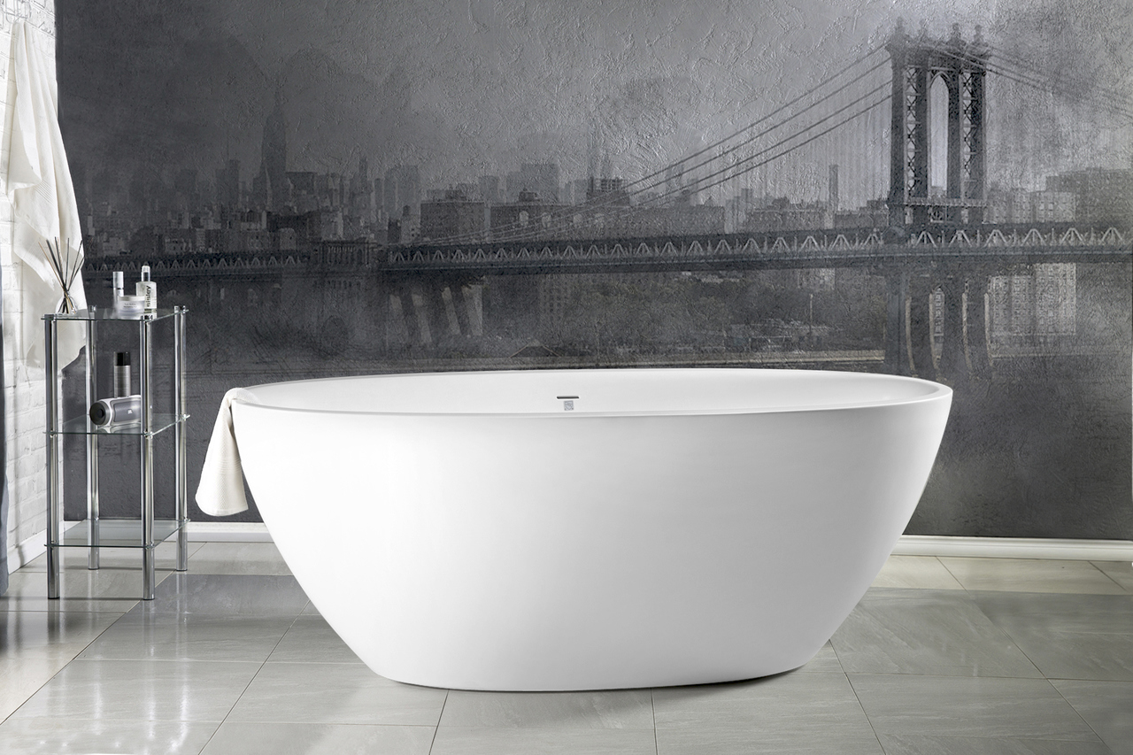 Vasca Da Bagno Freestanding Piccola : Vasca freestanding sensuality™ mini f wht in solid surface