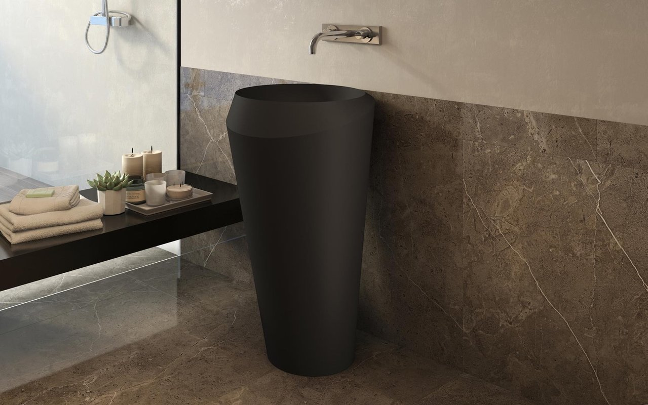 Solo Black Freestanding Solid Surface Lavatory 01 (web)