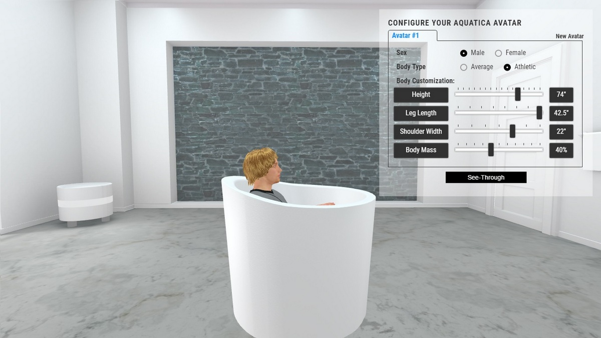 True Ofuro Mini Bathtub 3D Body Position
