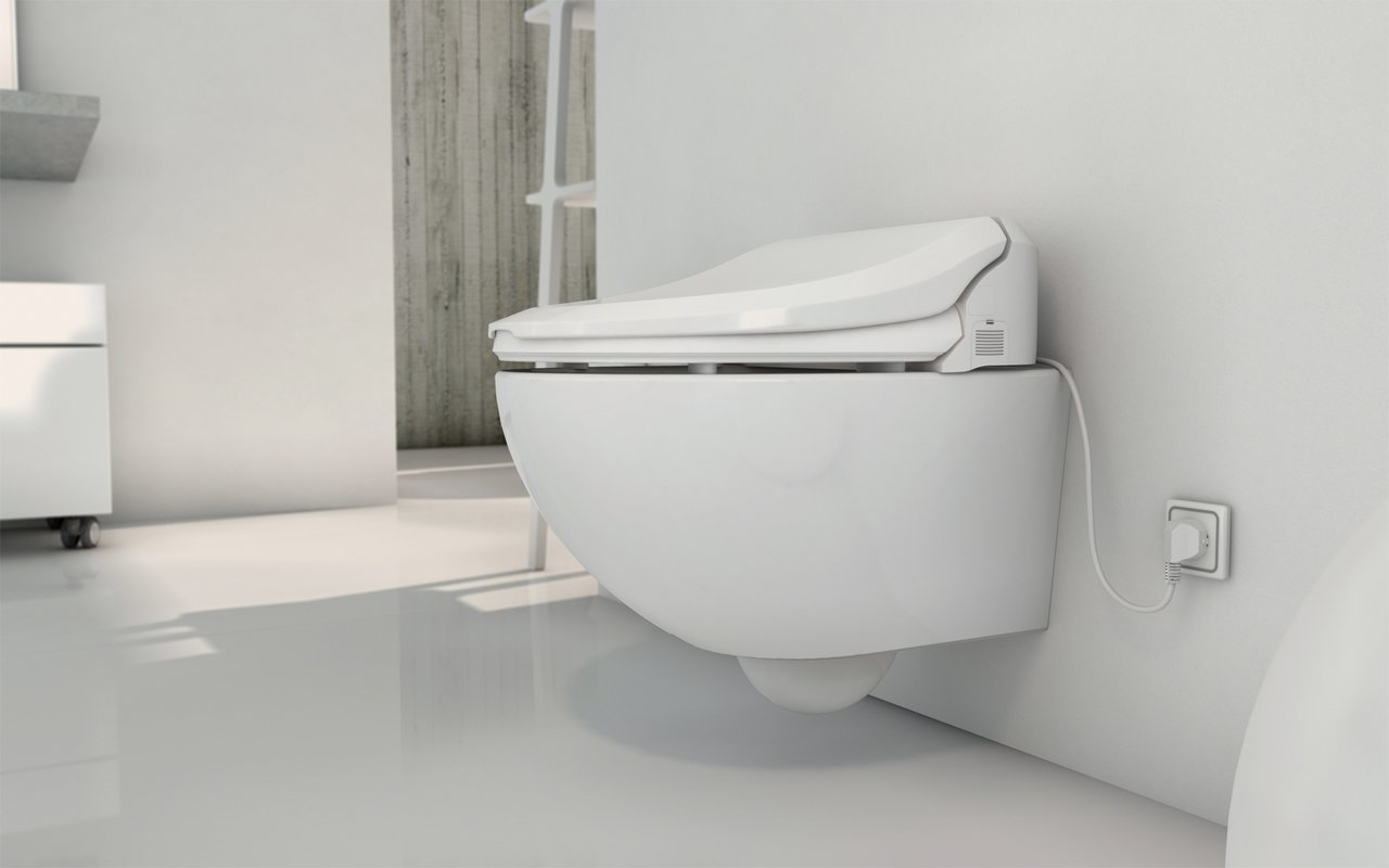 USPA Velis Wall Hung Toilet and 7235 Comfort Bidet Seat (1) (web)