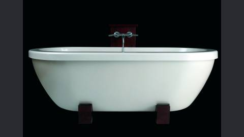 Adoreme   vasca in pietra freestanding bianca peso piuma di aquatica