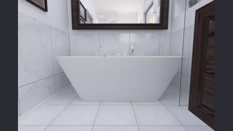Aquatica arabella wall vasca da bagno in pietra aquatex a muro