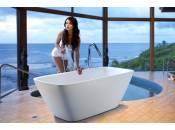 Arabella-Wht, la vasca da bagno freestanding Aquatica in pietra AquateX
